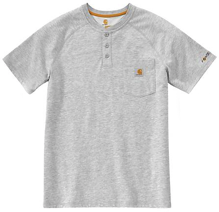CARHARTT FORCE DELMONT SHORT SLEEVE T-SHIRT, Light grey