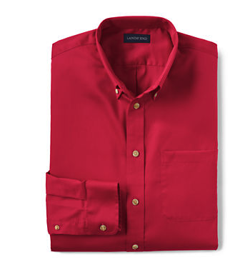 MEN'S LONG SLEEVE TWILL SHIRT, Red