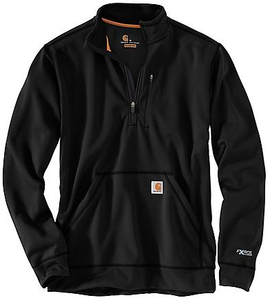 CARHARTT MOCK NECK HALF ZIP SWEATSHIRT, Black