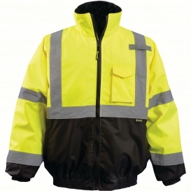 OCCUNOMIX REFLECTIVE JACKET , Safety Green