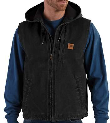 CARHARTT FLEECE LINED VEST, Black