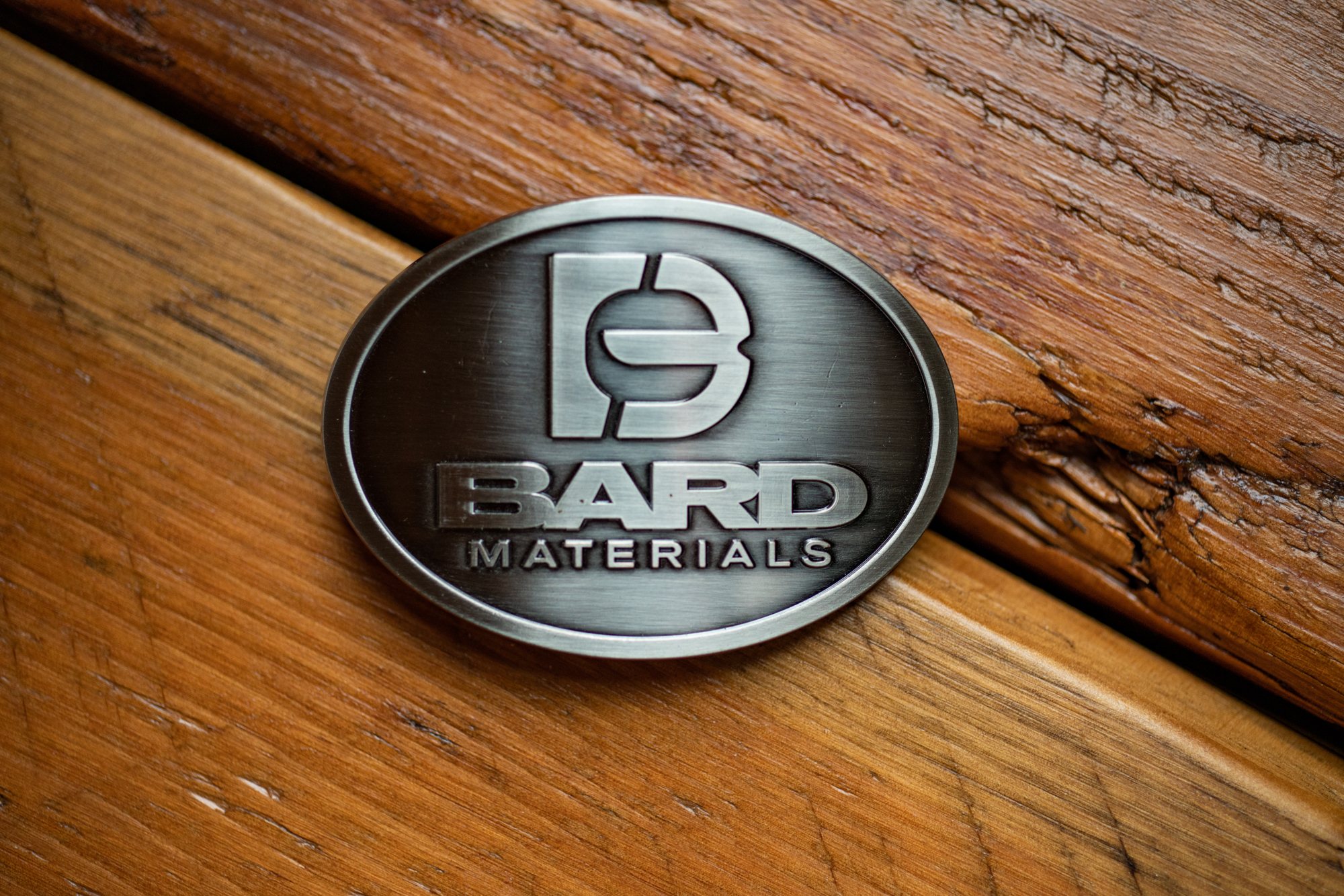 BARD METAL BELT BUCKLE, Brushed Nickle