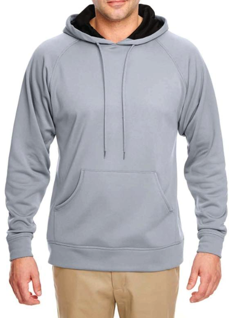 MEN'S COOL & DRY HOODED SPORT SWEATSHIRT, Light Grey