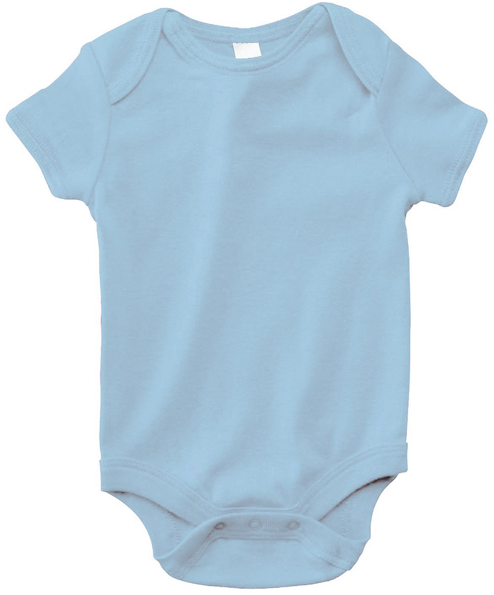INFANT SHORT-SLEEVE ONE-PIECE, Blue