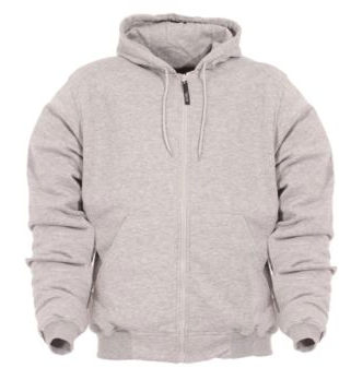 LINED HOODED SWEATSHIRT , Grey