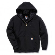 CARHARTT MIDWEIGHT HOODED ZIP-FRONT SWEATSHIRT, Black