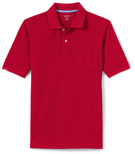 MEN'S POCKET POLO SHIRT, Red
