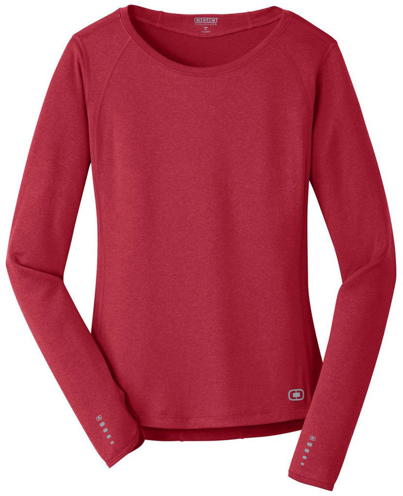 WOMEN'S ENDURANCE LONG-SLEEVE T-SHIRT, Red