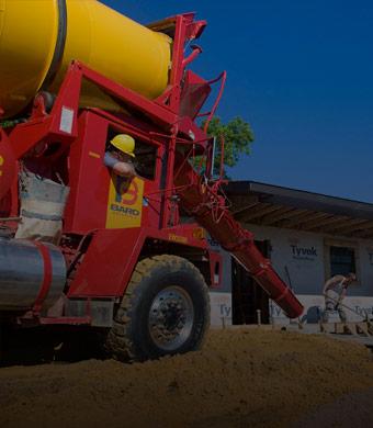 BARD Concrete concrete truck pouring concrete