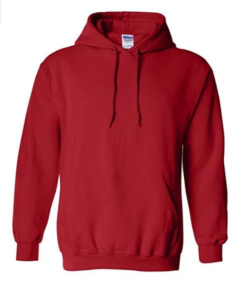 Hooded Sweatshirt   Red